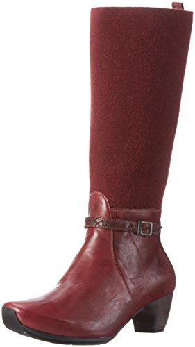 Think! Damen Ana Kurzschaft Stiefel Rot (BEERE/KOMBI 33)