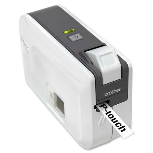 Brother Label Printer, PC Only, 2-1/10″x6-1/5″x4-2/5″,WE/GY (PT1230PC)