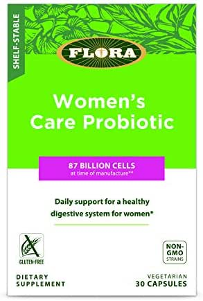 Women's Care Probiotic 30 Veg Caps - 87 Billion CFU & 8 Strains - Shelf Stable for Digestive & Vaginal Health - by Flora