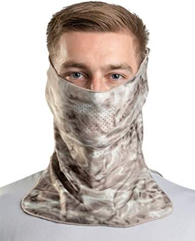 Aqua Design Sun Wind Mask for Men Size Adjustable XS-2XL: UPF 50+ Half Mask Tube