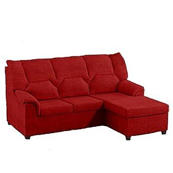 Tiendas Anticrisis Sofá chaiselongue Rojo, Medida 200cm ...