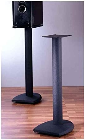 VTI Manufacturing DF19 19 in H44; Iron Center Channel Speaker Stand Black