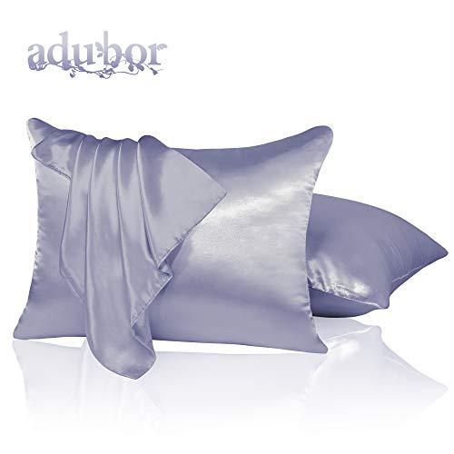 Amazon Com Adubor Satin Pillowcase 2 Pack Silky Pillow