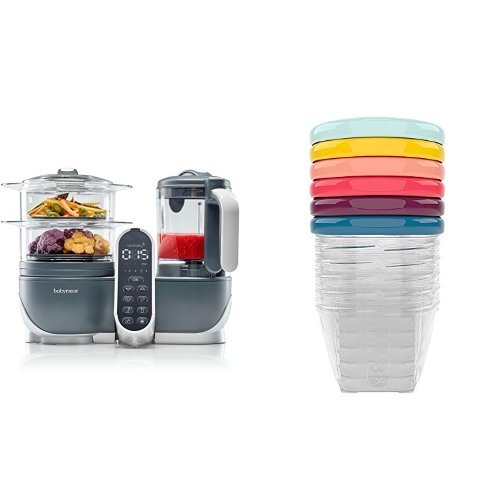 Duo Meal Station 6 in 1 Food Processor + Set of 6 Leak-Proof Bowls (6oz)