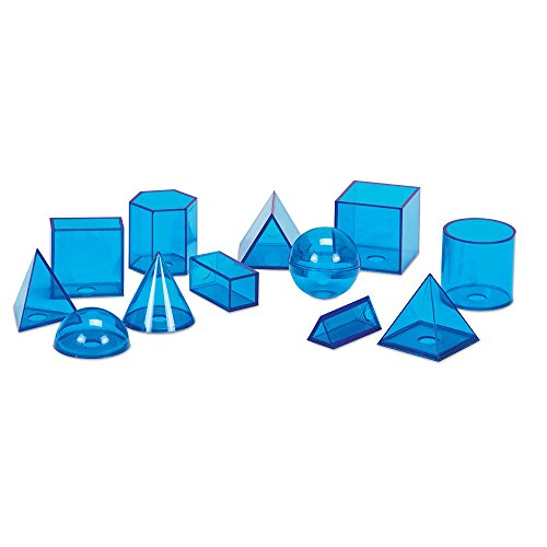 hand2mind Blue Power Geometric Solids (Set of 12)