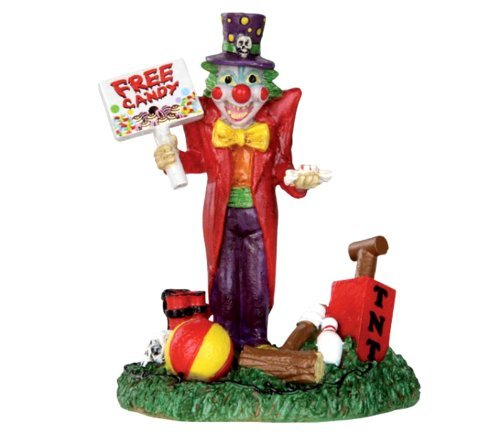 Lemax 32102 Free Candy Clown Spooky Town Figure Halloween Decor Figurine -