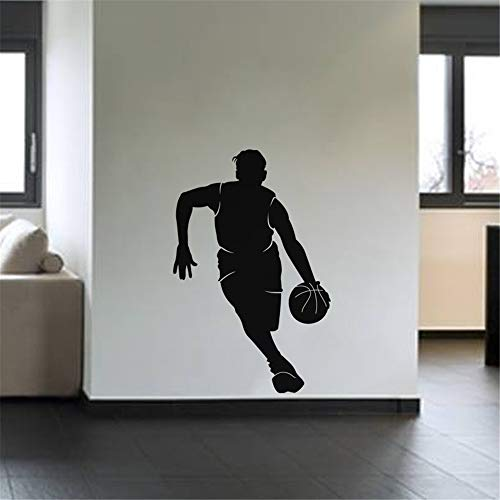 Quotes Wall Sticker Mural Decal Art Home Decor Sport Wall Decal Dribbling Basketball Wall Decal for Living ()