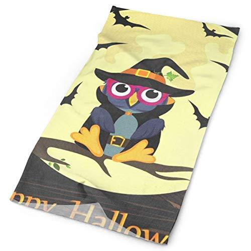 Lovexue Headband Halloween Owl in Witch Costume Outdoor Scarf Mask Neck Gaiter Head Wrap Sweatband Sports -