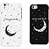 I LOVE YOU TO THE MOON AND BACK Couple Matching Phone Cases (iPhone 6, iPhone 5C)