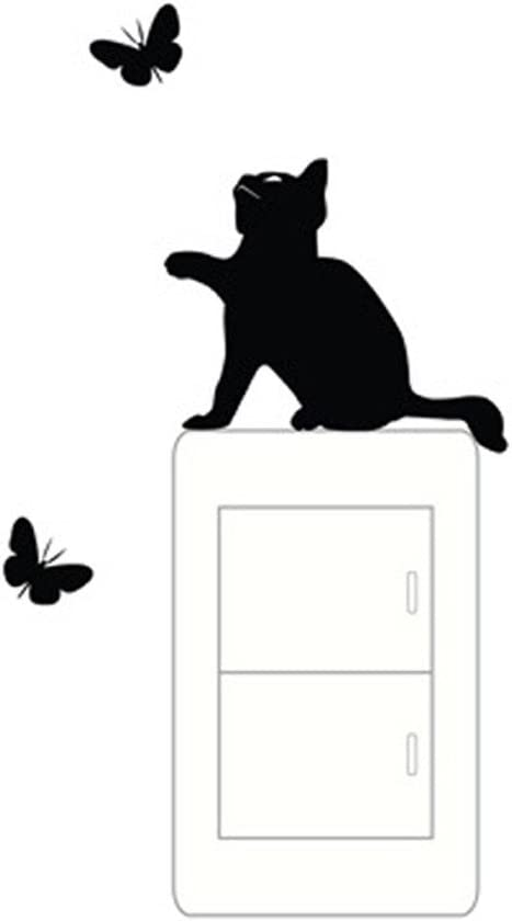 Wandaufkleber Wandschalter Dekoration kleine Schwarze Katze Aufkleber k/önnen f/ür Verschiedene Schalter nach Hause Wandaufkleber Schlafzimmer Wandaufkleber Cartoon Wandaufkleber verwendet Werden