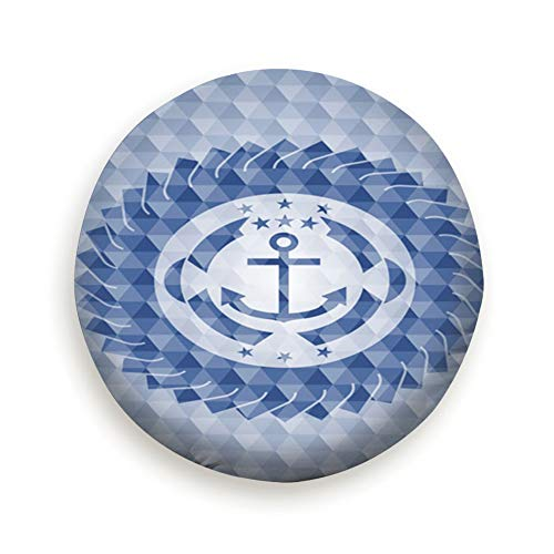 smartgood Anchor icon Inside Blue Badge Geometric Miscellaneous Spare Wheel Tire Cover Waterproof Dust-Proof Universal for Jeep,Trailer, RV, SUV and Many Vehicle 14