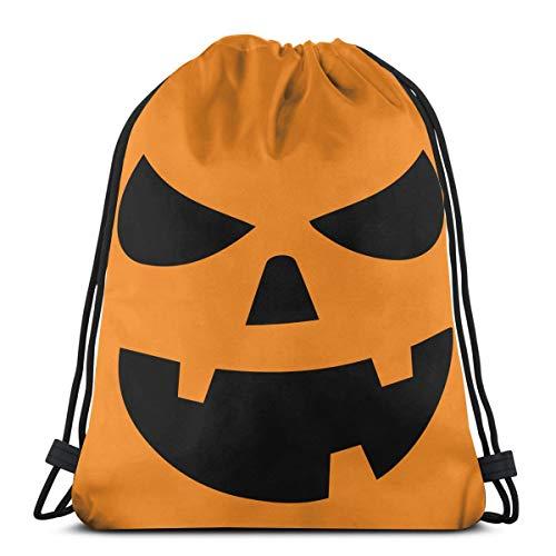 (Generic JACK O' LANTERN PUMPKIN Youth T Shirt Men Women Water Repellent Gymbag Large Drawstring Backpack String Bag Cinch Sack Bags For Sport Gym Yoga)