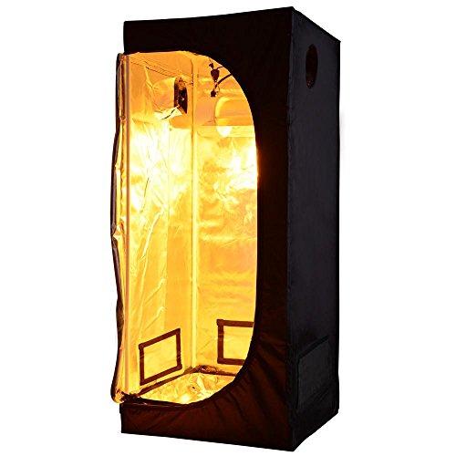 "414u2Y8mwYL - LAGarden 32x32x63"" Hydroponics Grow Tent 100% Reflective Diamond Mylar Oxford Indoor Plant Growing Non Toxic Room"