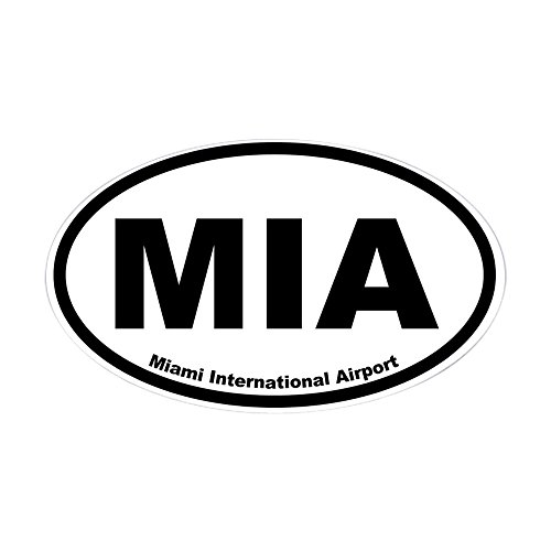 CafePress - Miami International Airport Oval Sticker - Oval Bumper Sticker, Euro Oval Car - Of Pictures Miami Airport