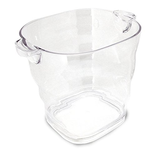 Co-Rect Square Top with Handle Acrylic Ice Buckets, 3.6 quart, Clear