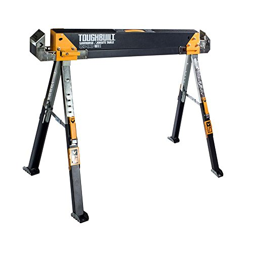 Toughbuilt Sawhorse Adjustable up to 4 x 4 Size Support...