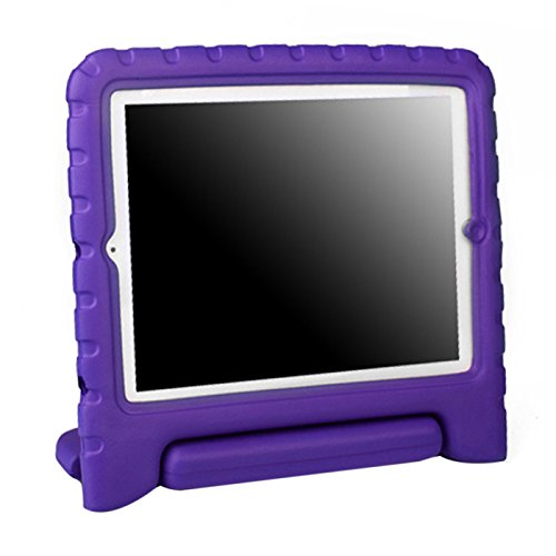 HDE Shock Proof iPad Case for Kids Bumper Cover Handle Stand for Apple iPad 2 iPad 3 iPad 4 (Purple) - Child Protective Ipad Case