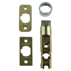 Kwikset 1826-18 6-Way Adjustable Plain Latch, Polished Brass