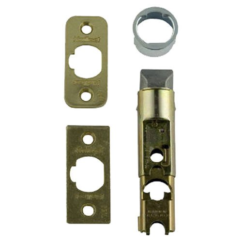 Plain Door Lock - Kwikset 1826-18 6-Way Adjustable Plain Latch, Polished Brass