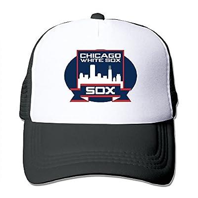 Black HGLENice Chicago White Sox Unisex Adjustable Baseball Trucker Cap One Size