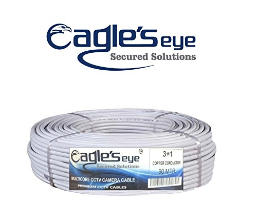 Eagle's Eye Brand Full 90Mtr CCTV 3+1 Copper Cable 1Pcs by Selecore Products. Price & Reviews