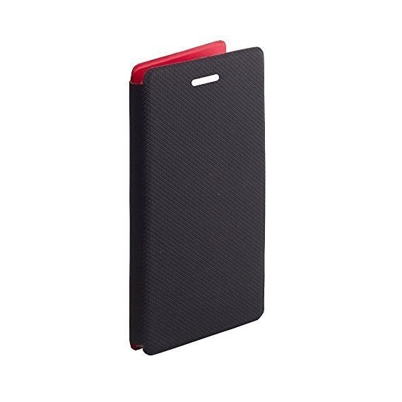 Credo Premium Luxury PU Leather Flip Case Cover For Intex Elyt E7 - (Black)