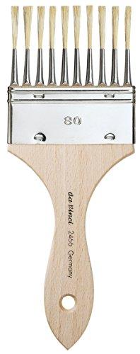 da Vinci Varnish & Priming Series 2466 Pipe Overgrainer, Light Hog Bristle with Plainwood Handle, Size (Pipe Hog)