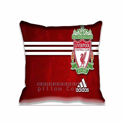 Decor Cotton Throw Pillow Case Awesome Liverpool Cushion Cover football Pillowcases 18x18 Inches (Liverpool Pillowcase)