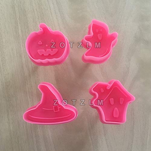 4 pcs/Lot Halloween Series Plastic Cookie Cutters Cake