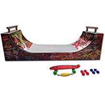 Grip and Tricks - RAMPS FOR FINGER SKATE - HALFPIPE - Fingerboard - Cruiser Board : Dimensions: 28 X 12 X 10 cm
