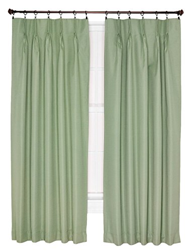 - Ellis Curtain Crosby Thermal Insulated 96 by 84-Inch Pinch Pleated Foamback Curtains, Sage