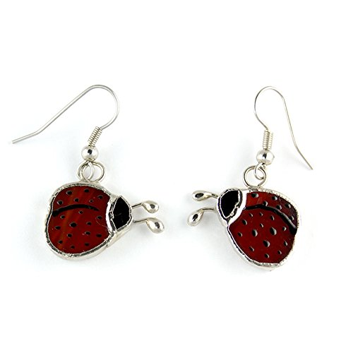 Switchables Stained Glass Lady Bug Earrings