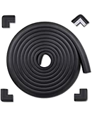 MEETBABY Baby Proofing Edge Corner Guards, Child Safety Furniture Bumper, Table Protectors, 3M Pre-Taped Corners, Safe Edge Corner Cushion, 16.2ft - 15 ft Edge 4 Corners, Black