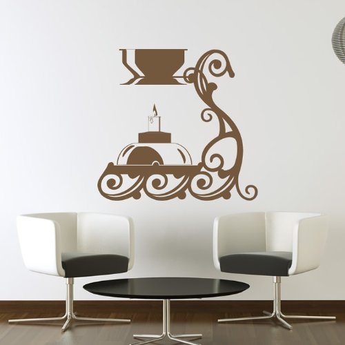 Candle Holder Wall Sticker Candle Wall Decal Art available in 5 Sizes and 25 Colours X-Small Gold Metallic