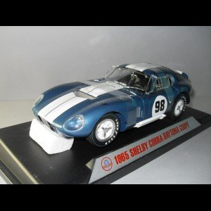 (1965 Shelby Cobra Daytona Coupe Blue #98 1/18 Diecast Model Car by Shelby Collectibles)
