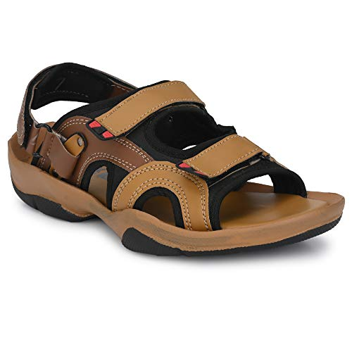 Black Cooper Tan and Brown stylish sports outdoor fashion Men sandals