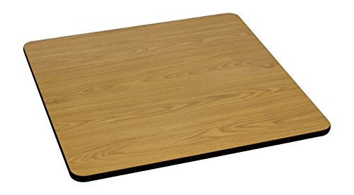 (Flash Furniture 42'' Square Table Top with Natural or Walnut Reversible Laminate Top)