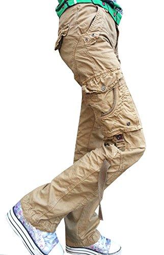 Newfacelook Womens Ladies Combat Cargo Cotton Military Trousers Pants Jeans