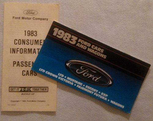 Ltd Wagon - 1983 FORD CARS & WAGONS: LTD, MUSTANG, ESCORT, EXP, LTD CROWN VICTORIA, FAIRMONT FUTURA & WAGONS COLOR SALES BROCHURE + CONSUMER INFO. FOLDER - USA - NICE ORIGINAL !!