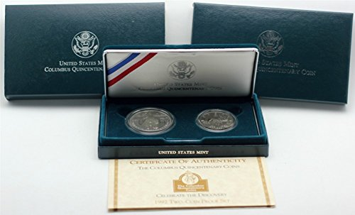 1992 Columbus Quincentenary Two Coin Commemorative Proof Set (Coins 2 Commemorative)