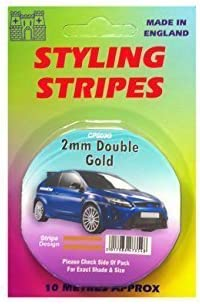Pin 10 Length Styling Tape 10m Castle 6mm Single White Stripe Car Decal