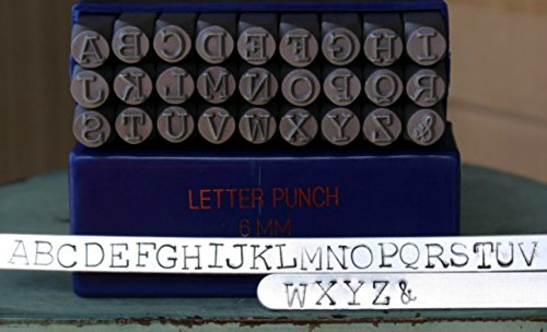 6mm Typewriter Font Metal Stamp Alphabet Letter Set, Available in Uppercase, Lowercase or Combination Set (Uppercase (MD-16U)) - Lowercase Font Set