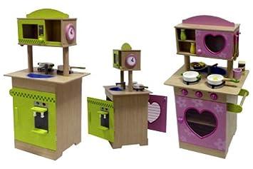 top spielküche kinder küche aus holz beidseitig mit zubehör ... - Küche Kinder Holz