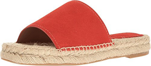 Claudia Open Coral Deep Casual Womens Toe Sandals Coach Suede Slide qgH6vqn