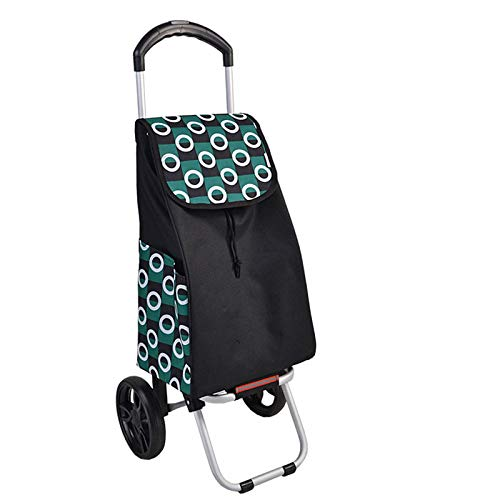 Green Shopping Trolley 2 Wheels, Folding, Strong Stable Mobility Aid, Ladies, Mens and Unisex Designs