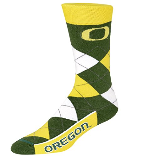 For Bare Feet NCAA Argyle Lineup Socks-Oregon Ducks-One Size Fits Most (Oregon Ducks Watches College)