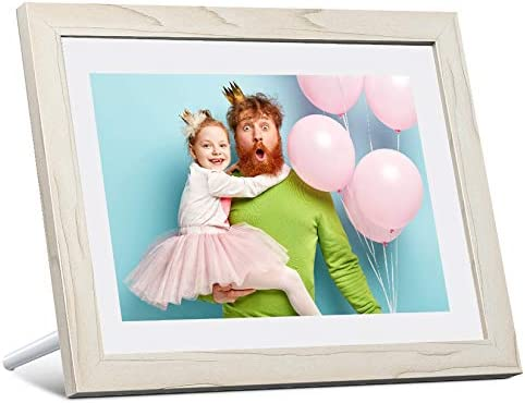 Dragon Touch Digital Picture Frame WiFi 10 inch IPS Touch Screen HD Display, 16GB Storage, Auto-Rotate, Share Photos by the use of App, Email, Cloud - Classic 10