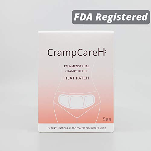 CrampCareH PMS/Menstrual Cramps Relief Heat Patch with Wide Wings, FDA Registered (Only $1.2/Count, 5 Patches)
