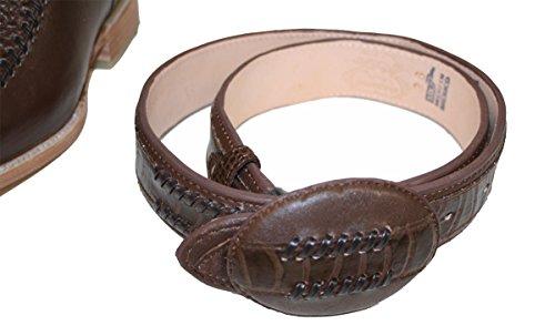 Mens Western Cowboy Läder Färgkombination Krokodil Utskrifts Stövlar / Gratis Bälte Brun / Brun