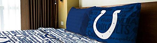 Indianapolis Colts Twin Sheet Set - Amirshay, Inc. Indianapolis Colts NFL Twin Sheet Set (Anthem Series) (2-Pack)